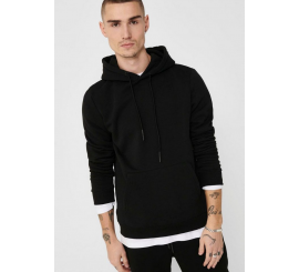 ONLY & SONS HOODIE TASCONI NERO