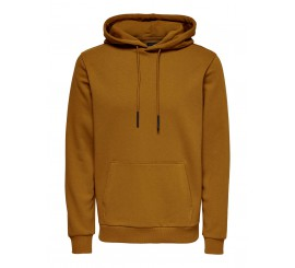 ONLY & SONS HOODIE TASCONI +CAPPUCCIO TABACCO