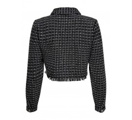 ONLY CROP JACKET BOUCLE NERO