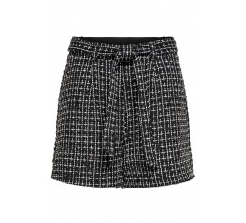 ONLY SHORT CHECK BOUCLE NERO